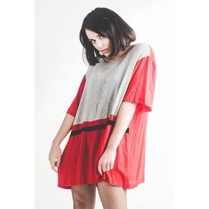 """Vintage """"Sharon Anthony"""" ColorBlock Oversized Top"""
